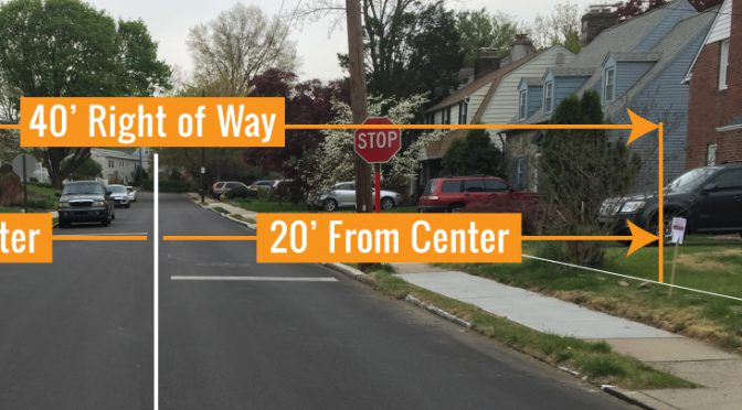 Homeowners in Jenkintown do not own any part of the public right of way