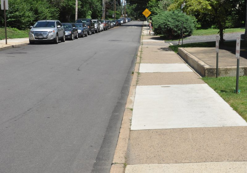Examples of poor sidewalk construction on Greenwood Ave, Jenkintown